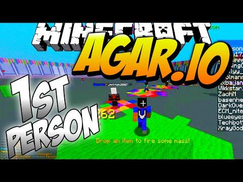 FIRST PERSON AGARIO IN MINECRAFT #1 with Vikkstar (Minecraft Agar.io)