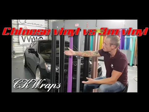 Is Chinese Vinyl Wrap Good? Comparison with 3m, Vvivid, Avery, Oracal and Chinese. By @ckwraps