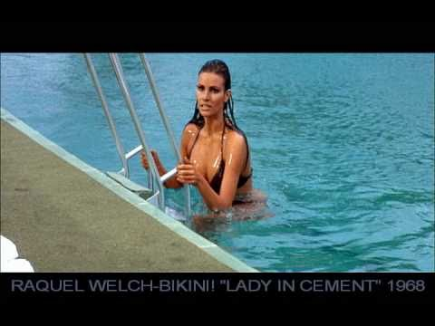 Raquel Welch Bikini Slide Lady In Cement 1968