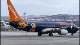 "Sunwing ""Family Life Hotels"" Hybrid Boeing 737-800 Departing YQB!"