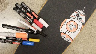 How To Paint Art On Your Grip Tape