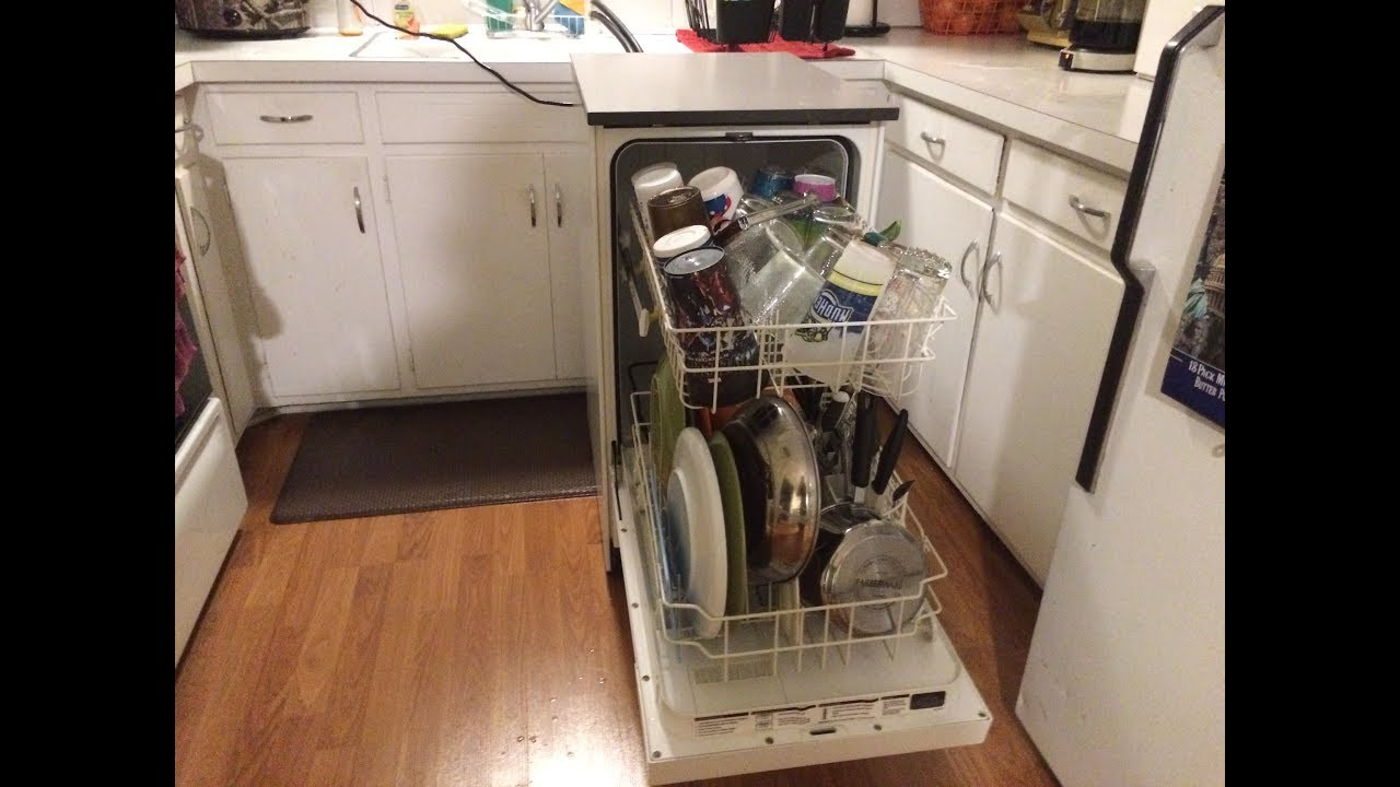 18 compact portable dishwasher setup and demo kenmore review youtube. Black Bedroom Furniture Sets. Home Design Ideas