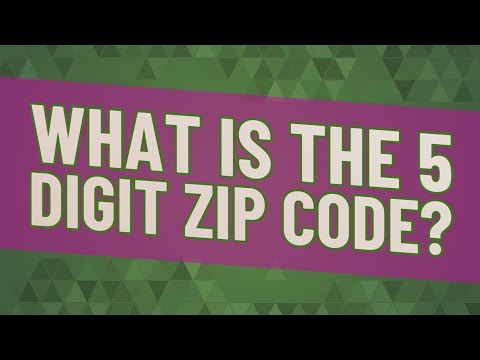 What Is The 5 Digit Zip Code? ★ Deeper Meaning