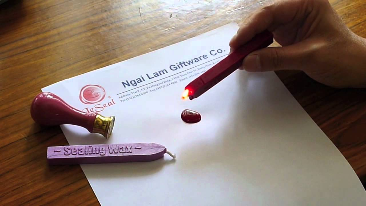 How to use our sealing wax   YouTube
