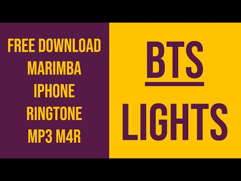 Bts Lights  Marimba  Iphone Ringtone  Free Download  M4r