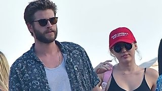 Miley Cyrus and Liam Hemsworth Step Out for Day Date -- and She Has a New Ring!