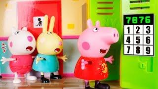 Peppa Pig Toys 🐷 The secret locker of Peppa 😮🚪❓