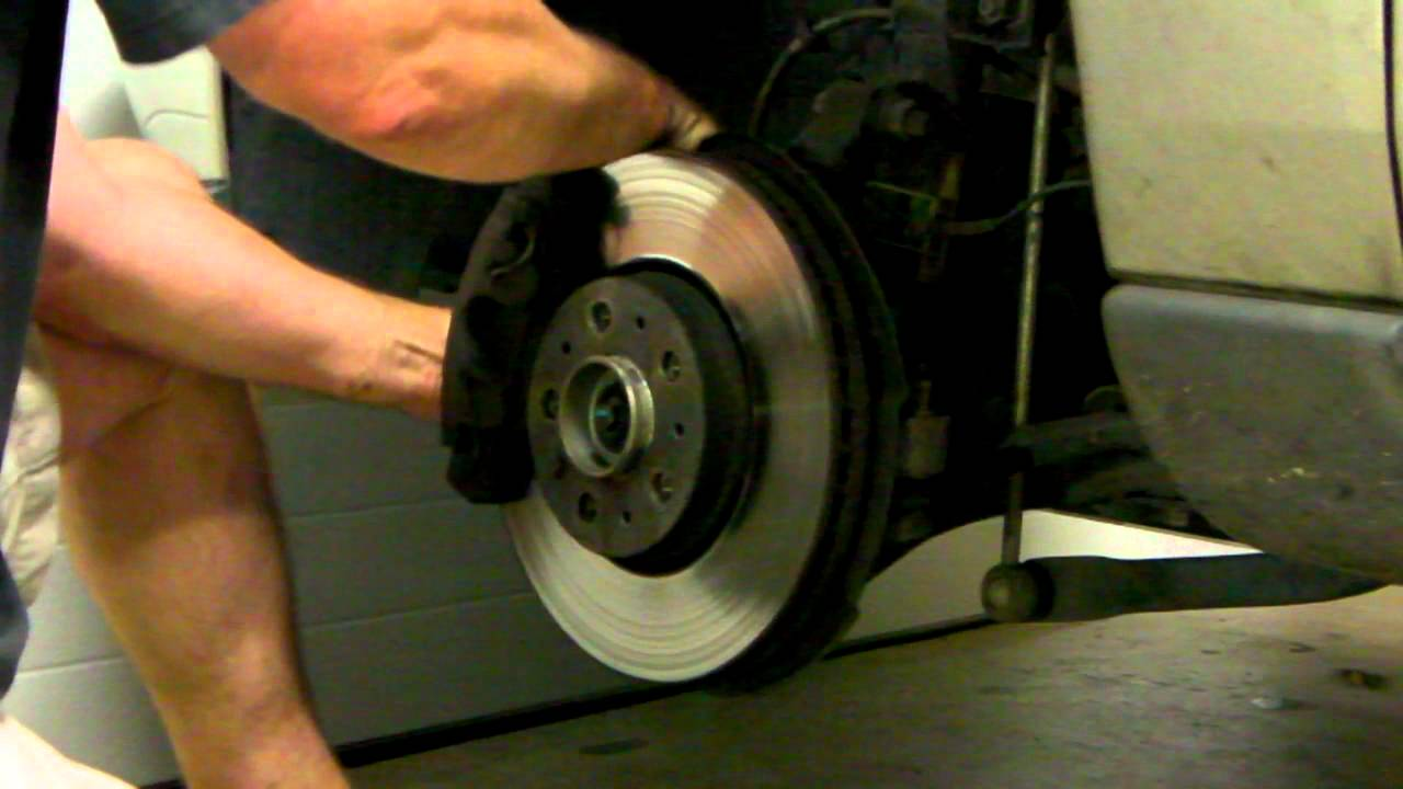 Removing brake rotor Volvo V70 (2001) (also for Volvo S60) - YouTube