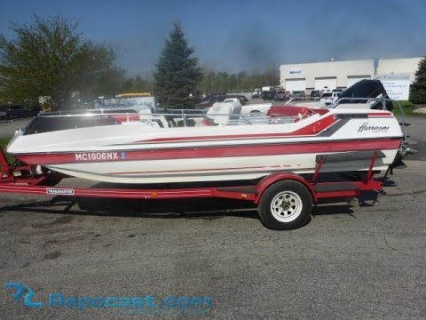 1990 Hurricane Deck Boat For Sale Online Auction Youtube