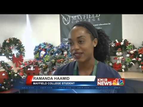KMIR News Story About Mayfield College Boys and Girls Club Wreath Auction
