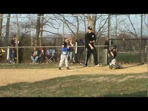 Trey's first hit farm league