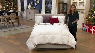 Royal Luxe White Goose Feather Comforter on QVC