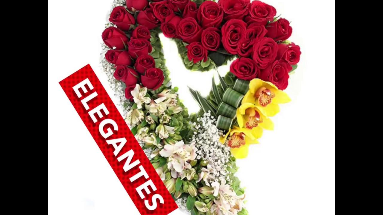 Arreglos Florales Con Forma De Corazón Con Flores Youtube