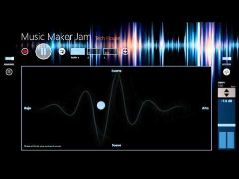 Sample of Music Maker Jam - Tech House @ Windows 8
