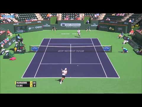 Adrian Mannarino Indian Wells 2015 Monday Hot Shot vs. Gulbis