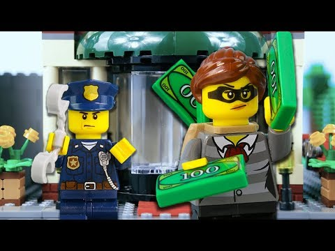 LEGO City Hotel Robbery Fail STOP MOTION   LEGO Robbery: Mission Unlucky   LEGO City   Billy Bricks