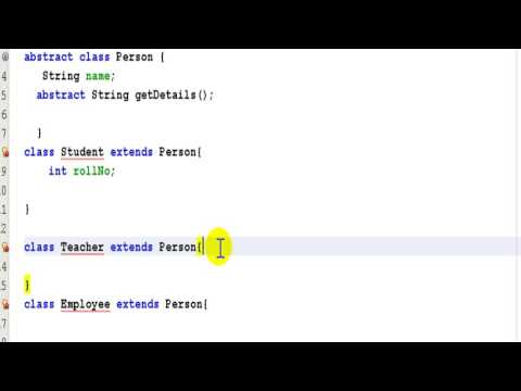 Abstract Class Example :java programming