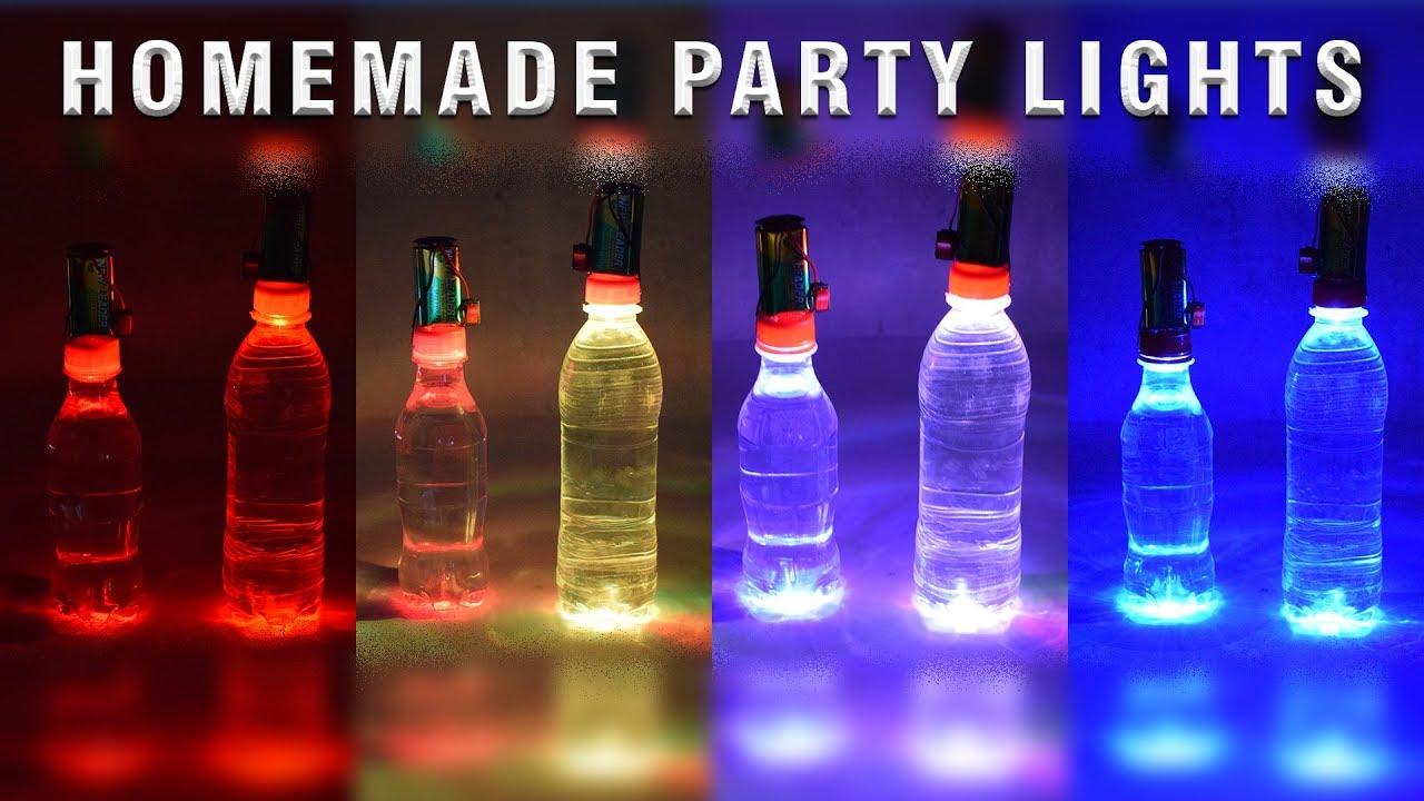Homemade Party Lighting Using Plastic Bottle 3 Minute Show