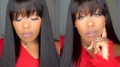 Most Natural Yaki Lace Wig with Bangs For Fall ft OMGqueen Hair