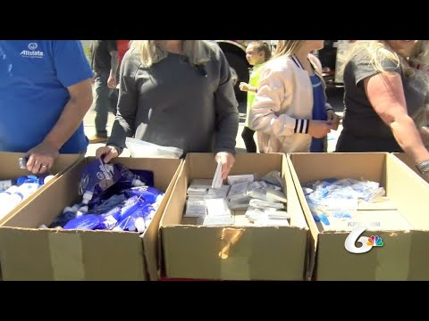 Allstate and Pocatello Fire Department Give Out Disaster Kits