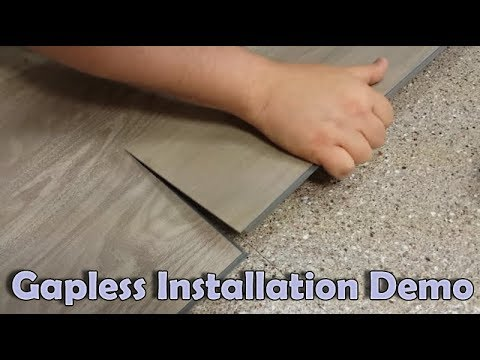 Quick vinyl plank drop and lock installation demo youtube