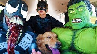 Superheroes Surprise Sammie With Dancing Car Ride!