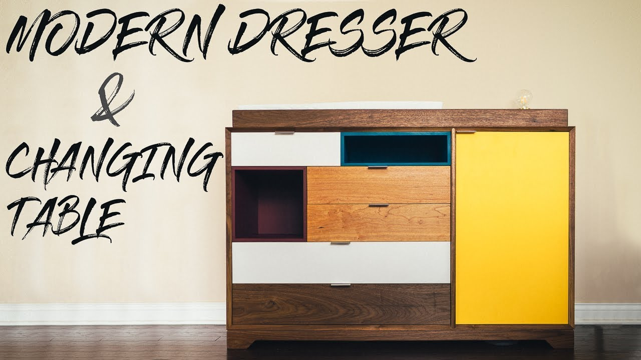 DIY Modern Dresser U0026 Baby Changing Table || How To Build   Woodworking