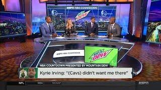 The crew discuss Kyrie Irving - Isaiah Thomas Trade | NBA Countdown