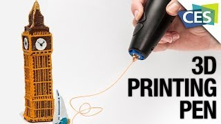 A 3D-Printing Pen that Draws in the Air! 3Doodler at CES 2014