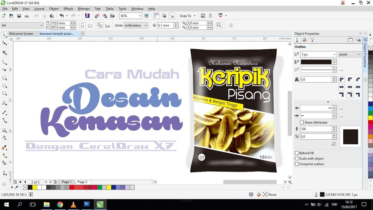 Tutorial Membuat Desain Kemasan Snack Makanan Ringan Dengan