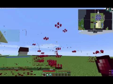 Minecraft:マイクラで黒魔法、血の雨(Bloody rain)を作った