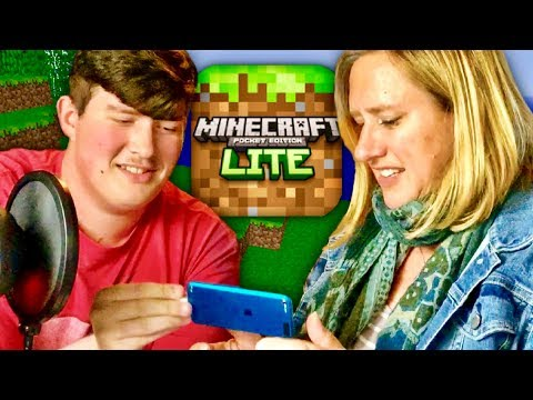 My Mommy Tries Minecraft Lite Edition For The First Time...