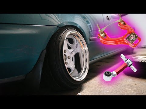 INSTALLING CAMBER KITS ON THE COUPE!