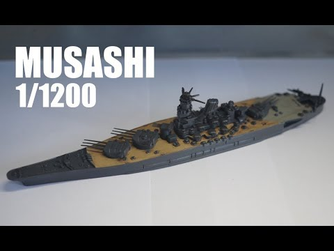 NEW BOXING Revell 1/1200 Musashi Full Build   Narrated