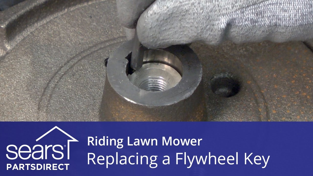 replacing a flywheel key on a riding lawn mower [ 1280 x 720 Pixel ]