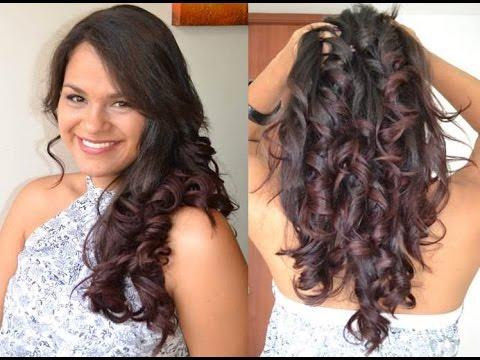 Como hacer rizos naturales con la plancha de pelo belleza - Como realizar peinados ...