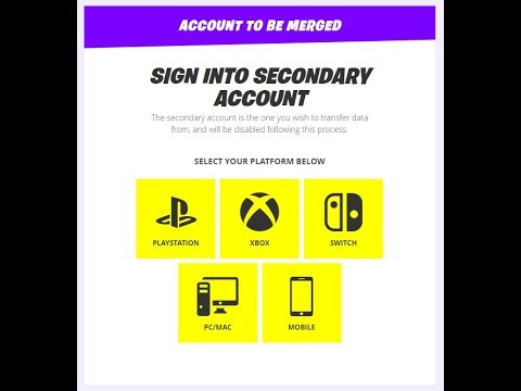 HOW TO MERGE YOUR EPIC GAMES ACCOUNT JULY 2019!! - Fortnite *NEW*