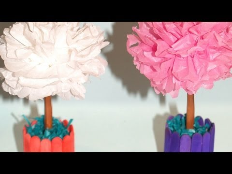Centro de Mesa con Flores de Papel de Seda DIY Tissue Paper