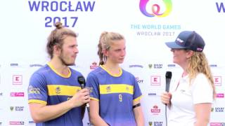 Tom and Alexandra from Team Australia - The World Games 2017