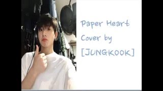 BTS Jungkook -Paper Hearts[Cover Lyrics]