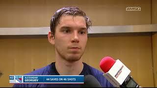 Alexandar Georgiev: The Boys Played Awesome Today | New York Rangers Post Game