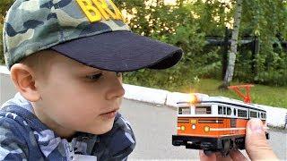 Поезда для детей - Железная дорога и пассажирский поезд - Видео для детей