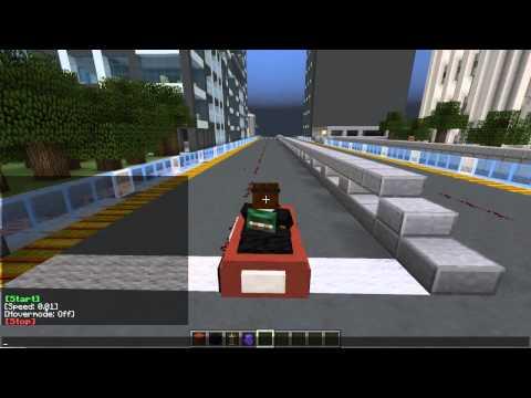 Minecraft   DRIVING A HOVERCAR!!   Custom Command!! agario