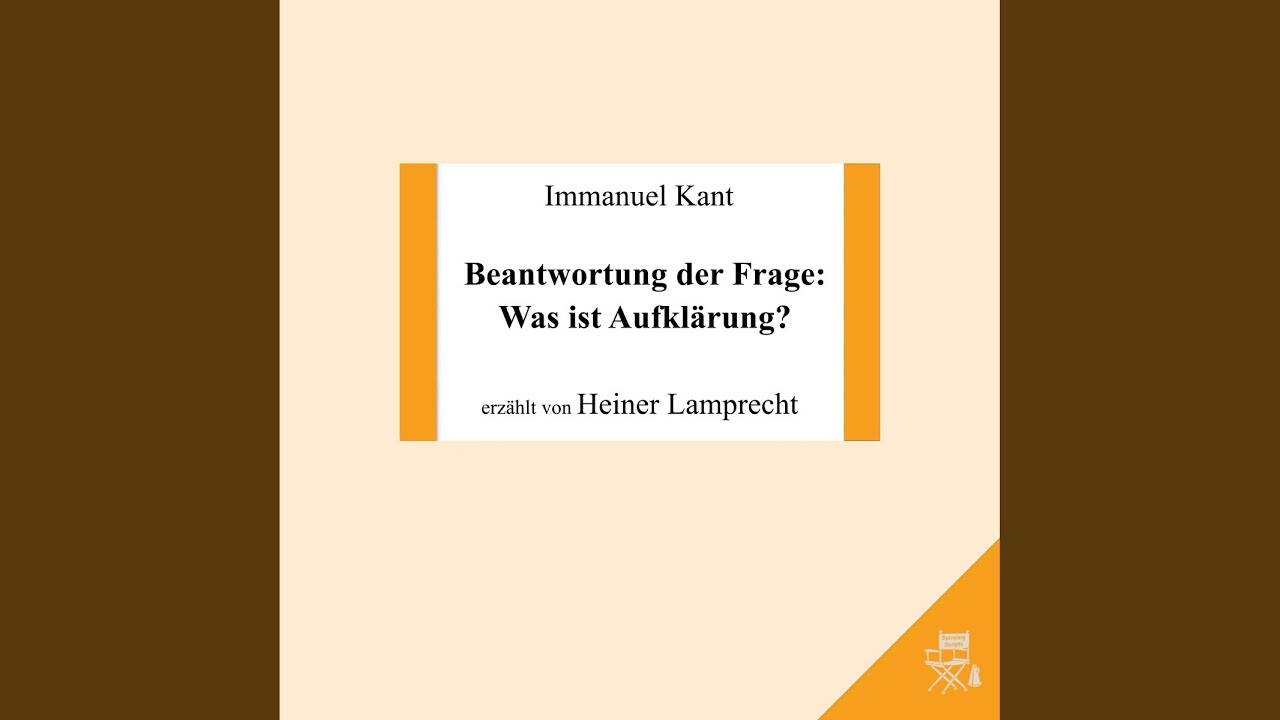 (PDF) Immanuel Kant, Beantwortung der Frage: Was …