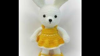 """Вязание крючком. Игрушка """"Заяц"""". Crochet Rabbit. Часть 1"""