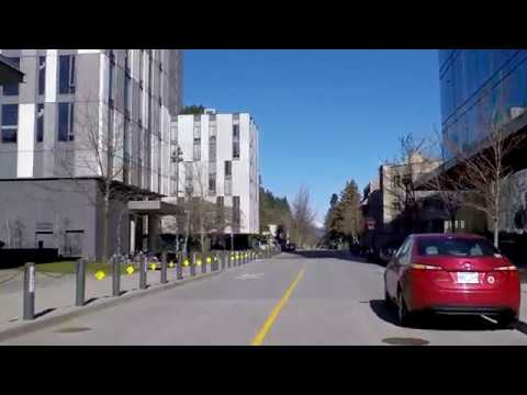 Driving Around UBC (The University of British Columbia) in Vancouver Canada - Tour of Campus