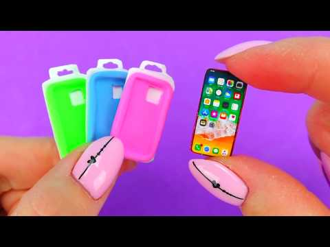 REAL DIY MINIATURE DEVICE APPLE  HACKS AND CRAFTS !!!!