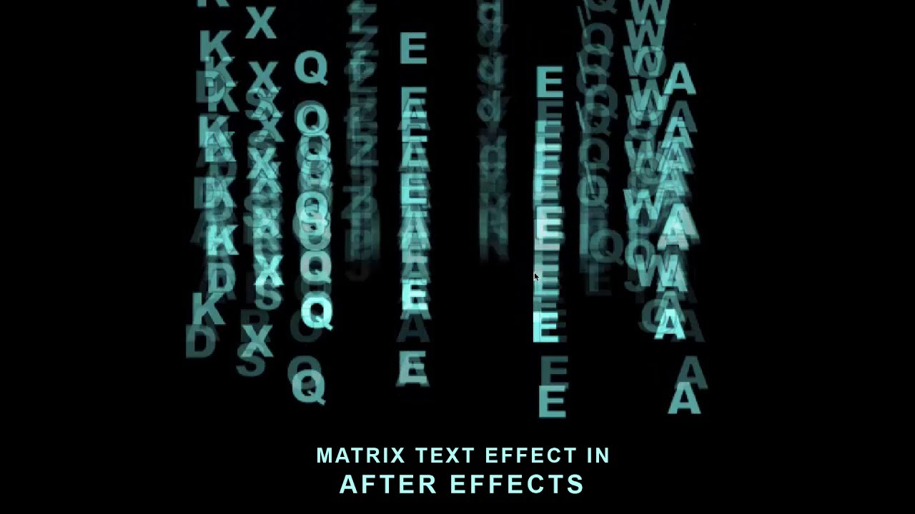 After effects tutorial animated matrix text effect youtube after effects tutorial animated matrix text effect baditri Images