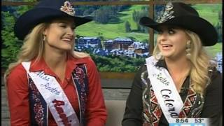 Miss Rodeo America & Miss Rodeo Colorado  Eagle County Fair & Rodeo  07.22.17 Good Morning Vail