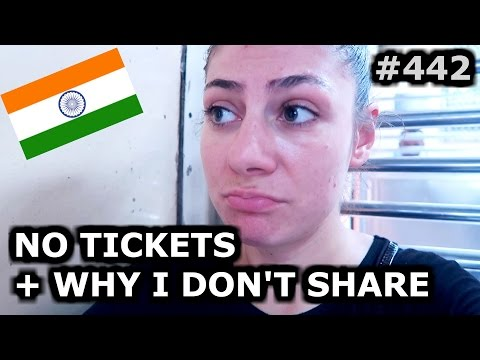 BUYING TRAIN TICKETS IN INDIA + I DON'T SHARE MY LOCATION - MUMBAI DAY 442 | INDIA | TRAVEL VLOG IV